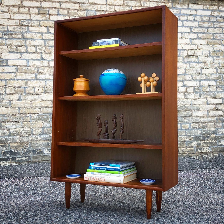 Mid-century custom walnut bookcase