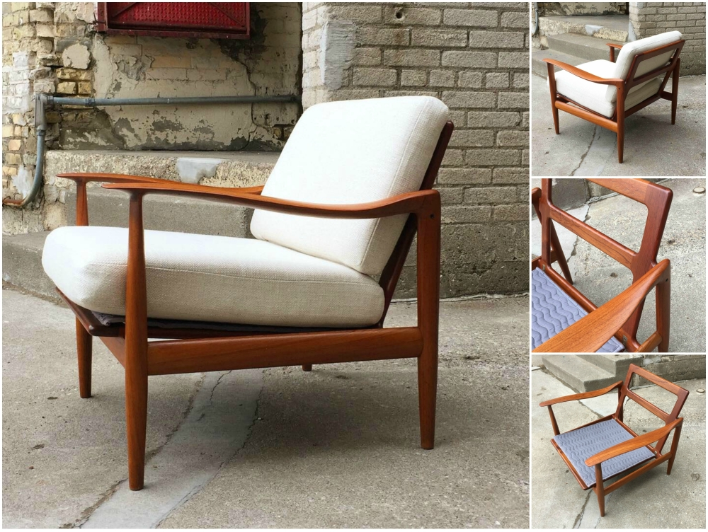 Scandinavian modern teak frame easy chair