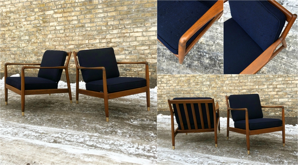 DUX of Sweden lounge chairs designed by Folke Ohlsson