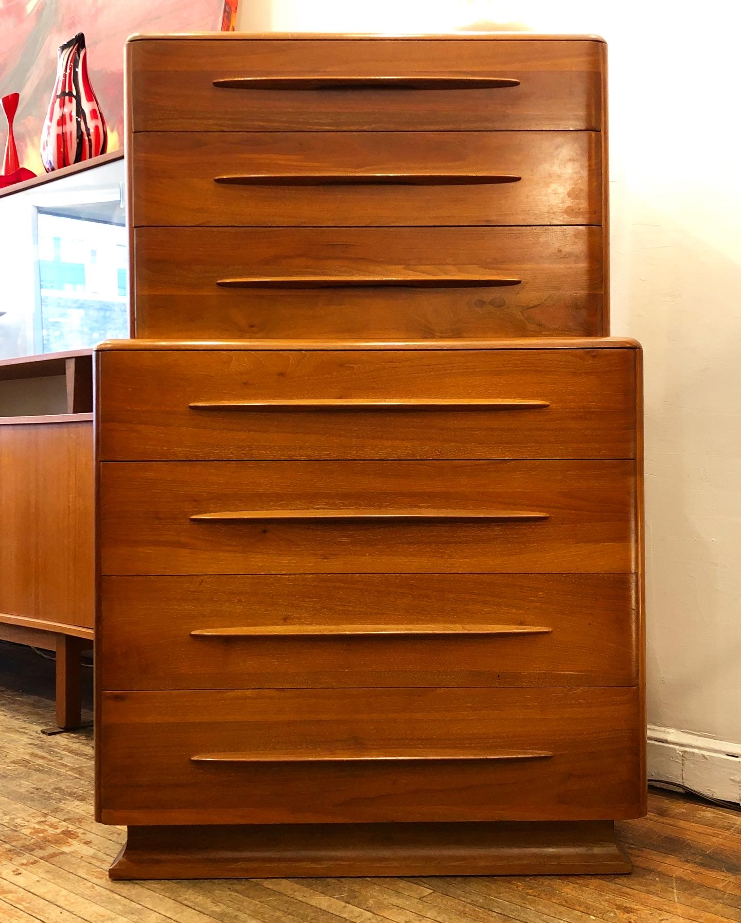 Bissman Furniture 7-drawer walnut chest
