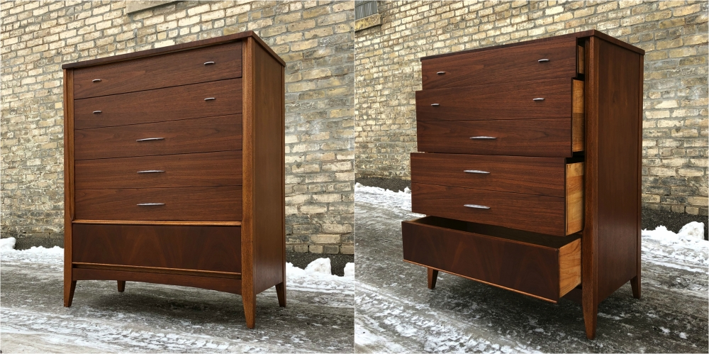 Dixie Furniture mid-century chest of drawers