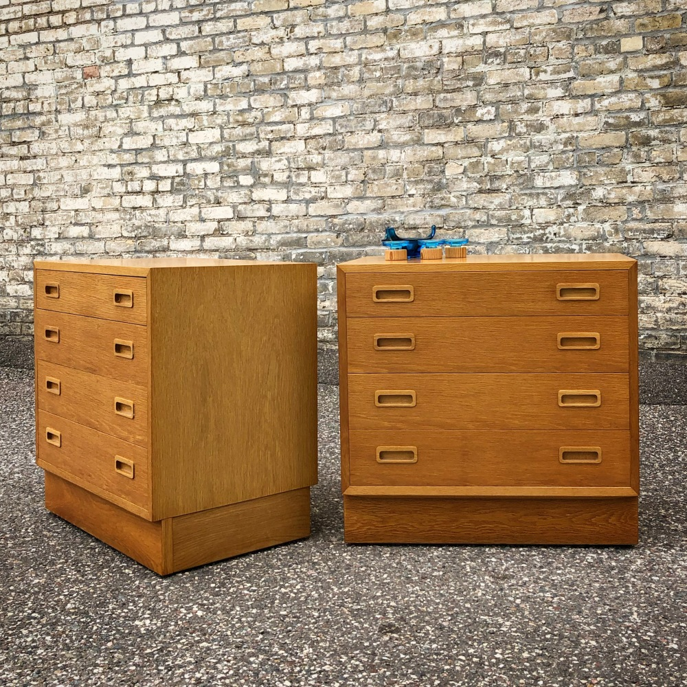 Poul Hundevad white oak 4-drawer chests