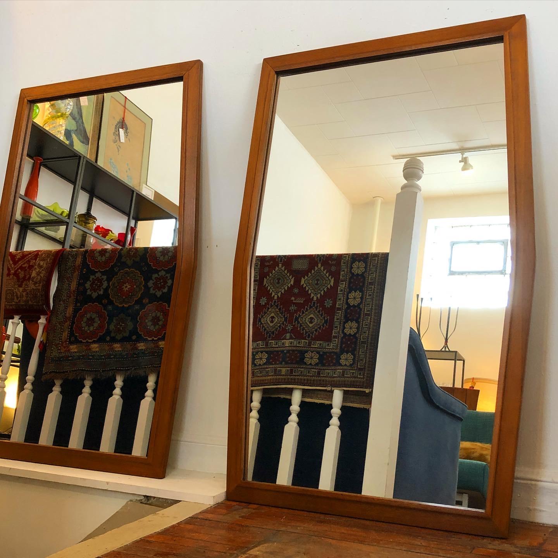 Broyhill Tribute hexagonal framed mirrors