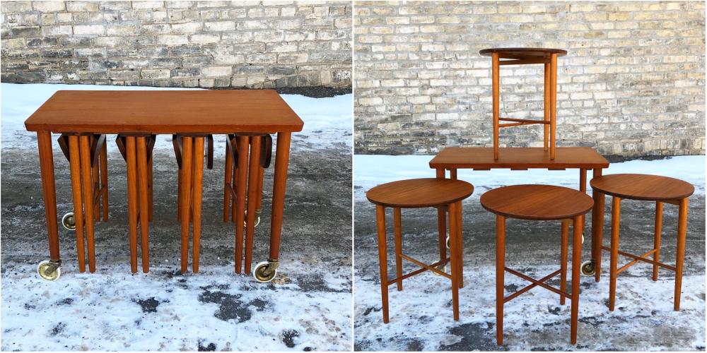 Poul Hundevad nesting table set