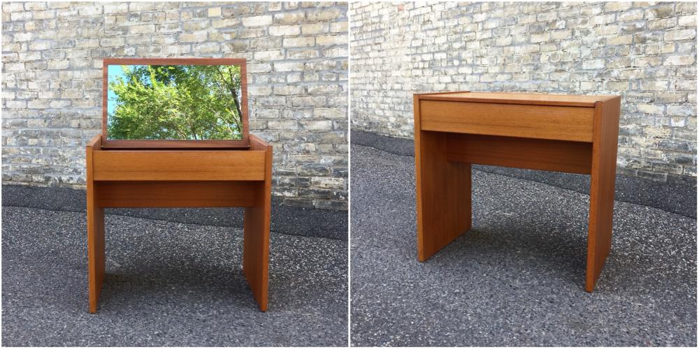 Danish teak vanity table - desk
