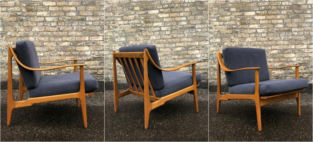 Danish-made beech frame lounge chair