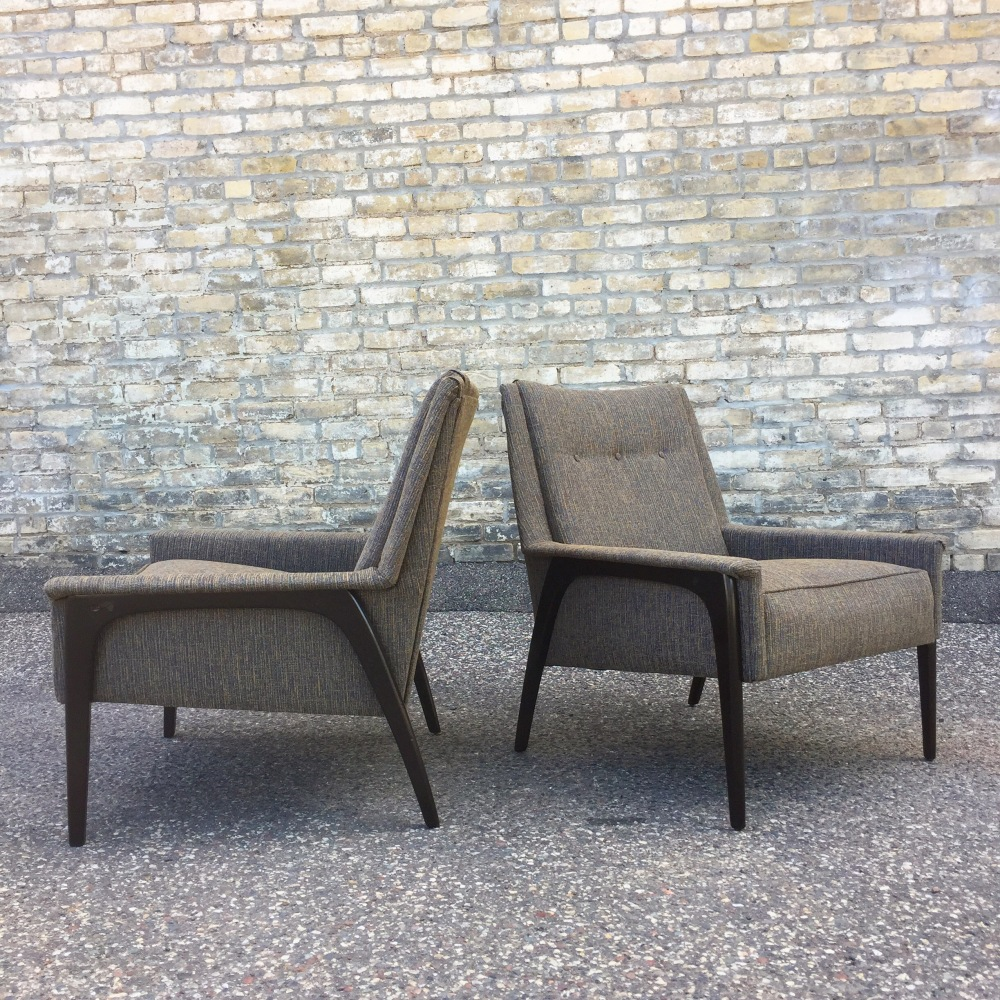 Mid-century modern lounge chairs - newly upholstered