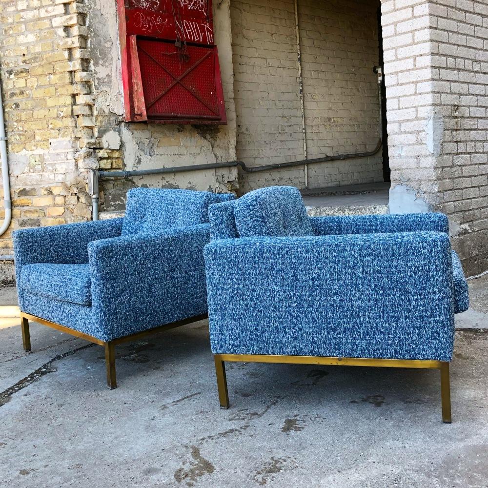 Milo Baughman for Thayer Coggin cube club chairs