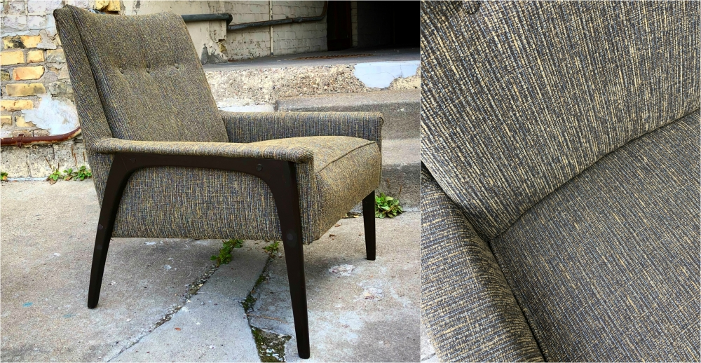 Mid-century Kroehler lounge chair - professionally upholstered