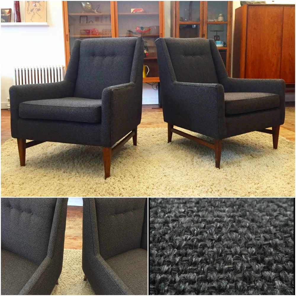 Mid-century club chairs - Edward Wormley style