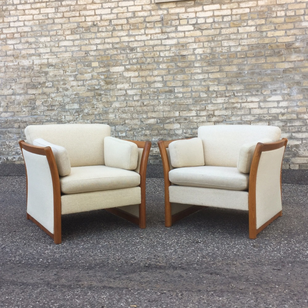 Stouby - Denmark - club chairs - teak and wool