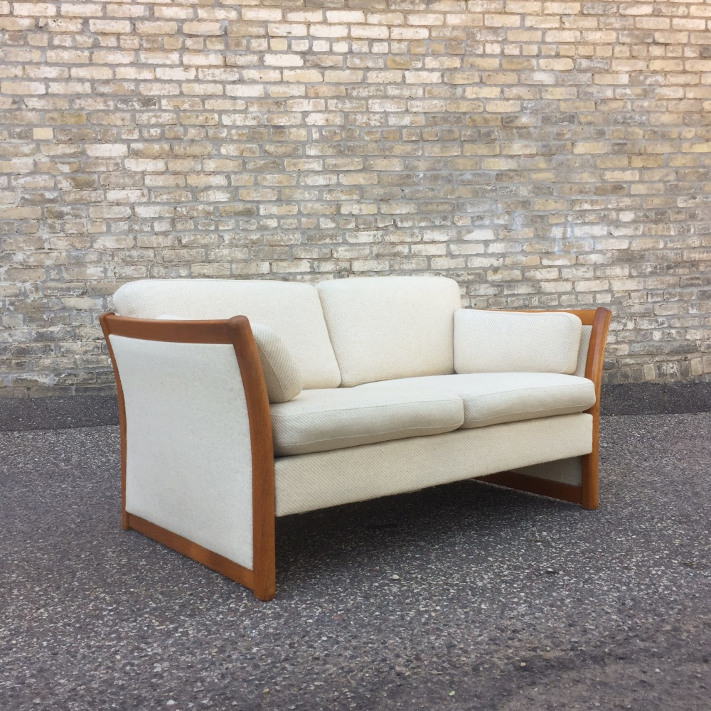 Stouby - Denmark - loveseat - teak and wool