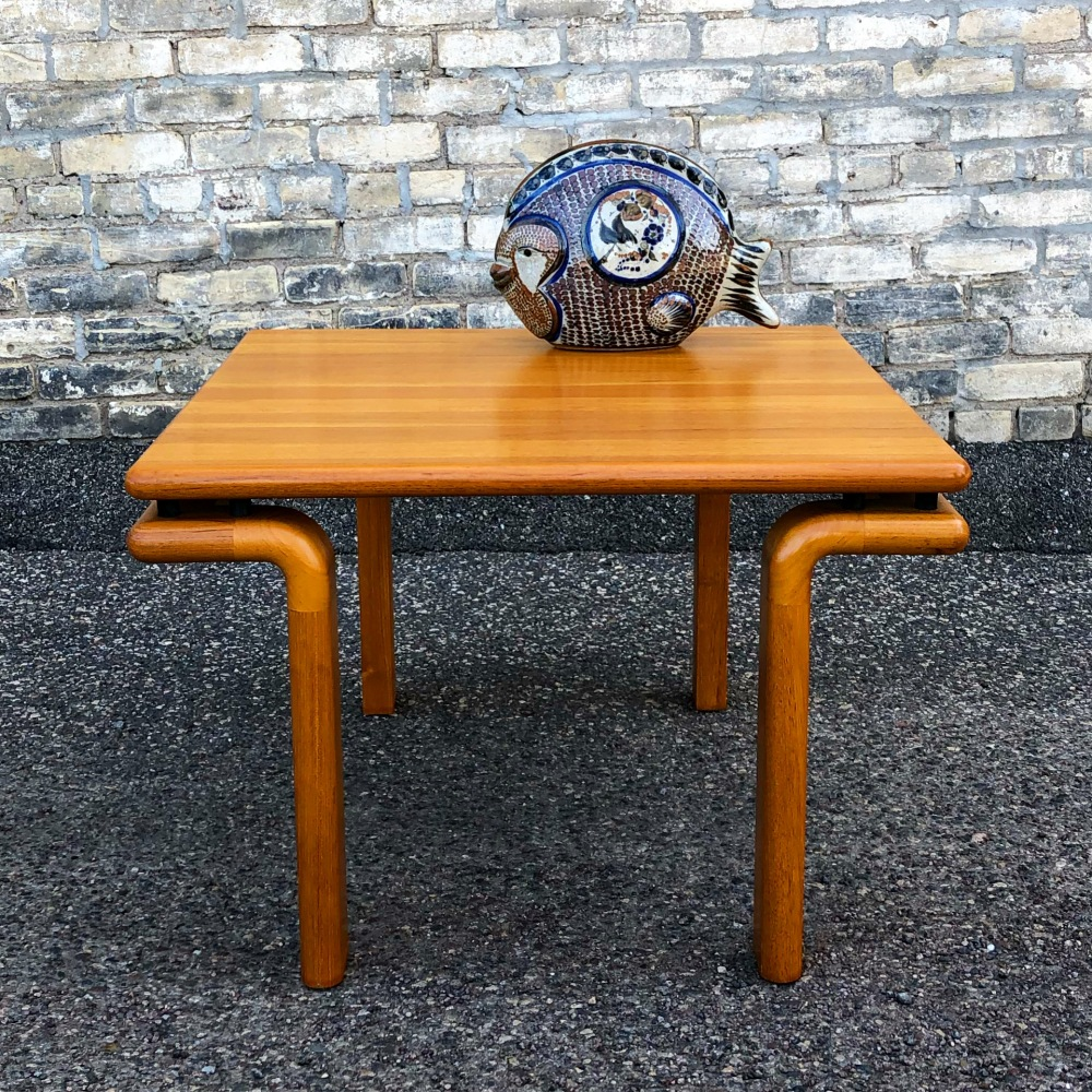 Danish-made solid teak accent or coffee table