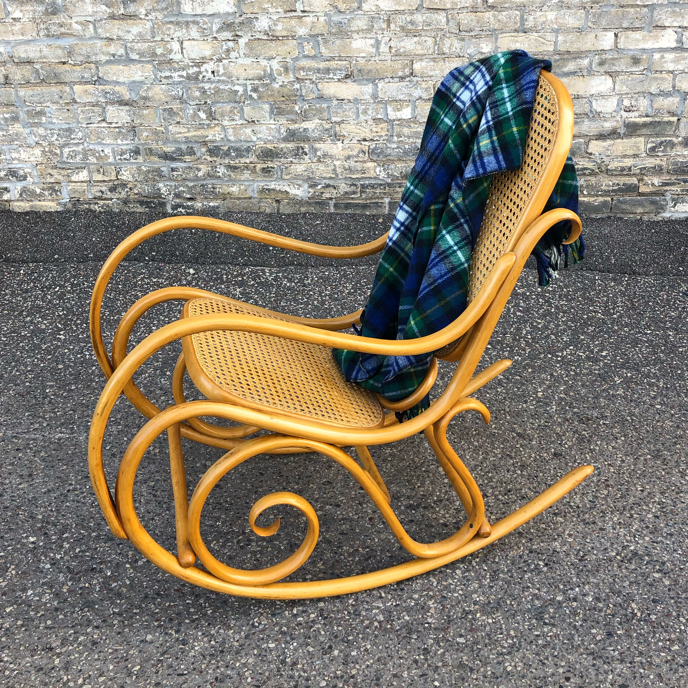Thonet style bentwood rocking chair - made in Poland