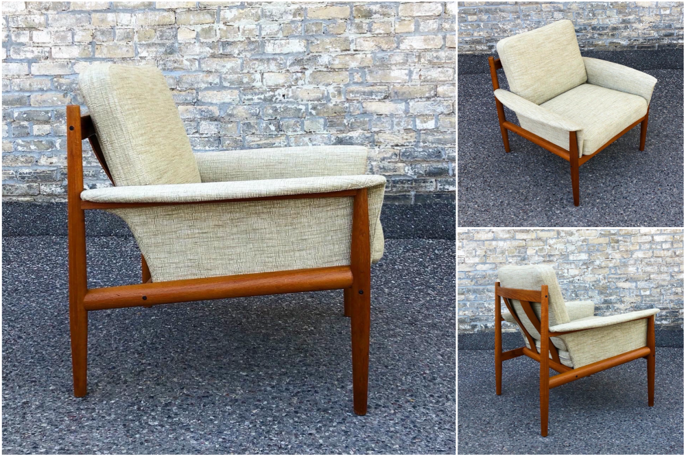 Grete Jalk for France & Son teak frame lounge chair