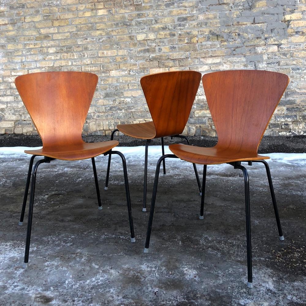 Molded teak chair - made in Denmark