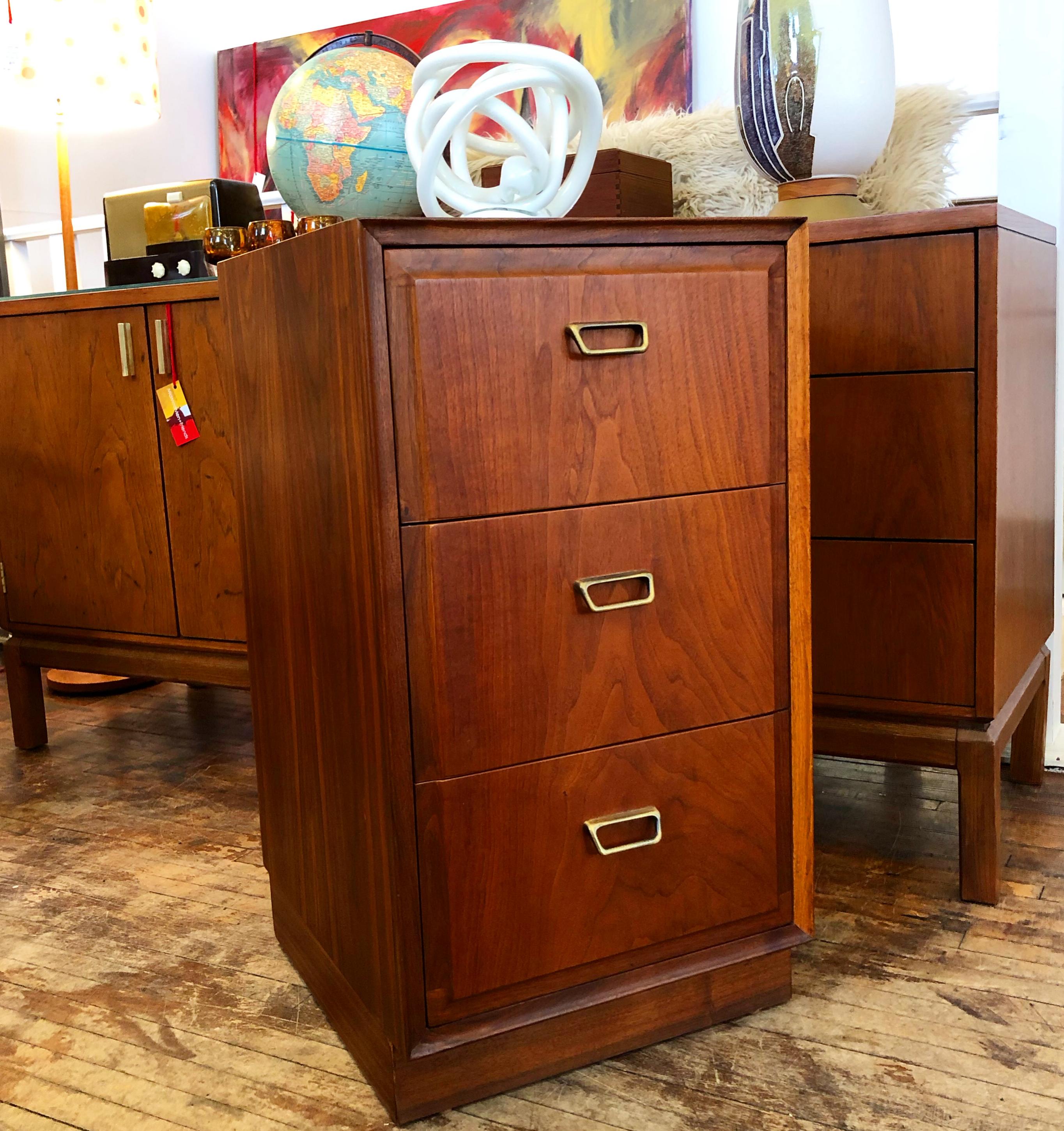 Founders Furniture 3-drawer walnut nightstand