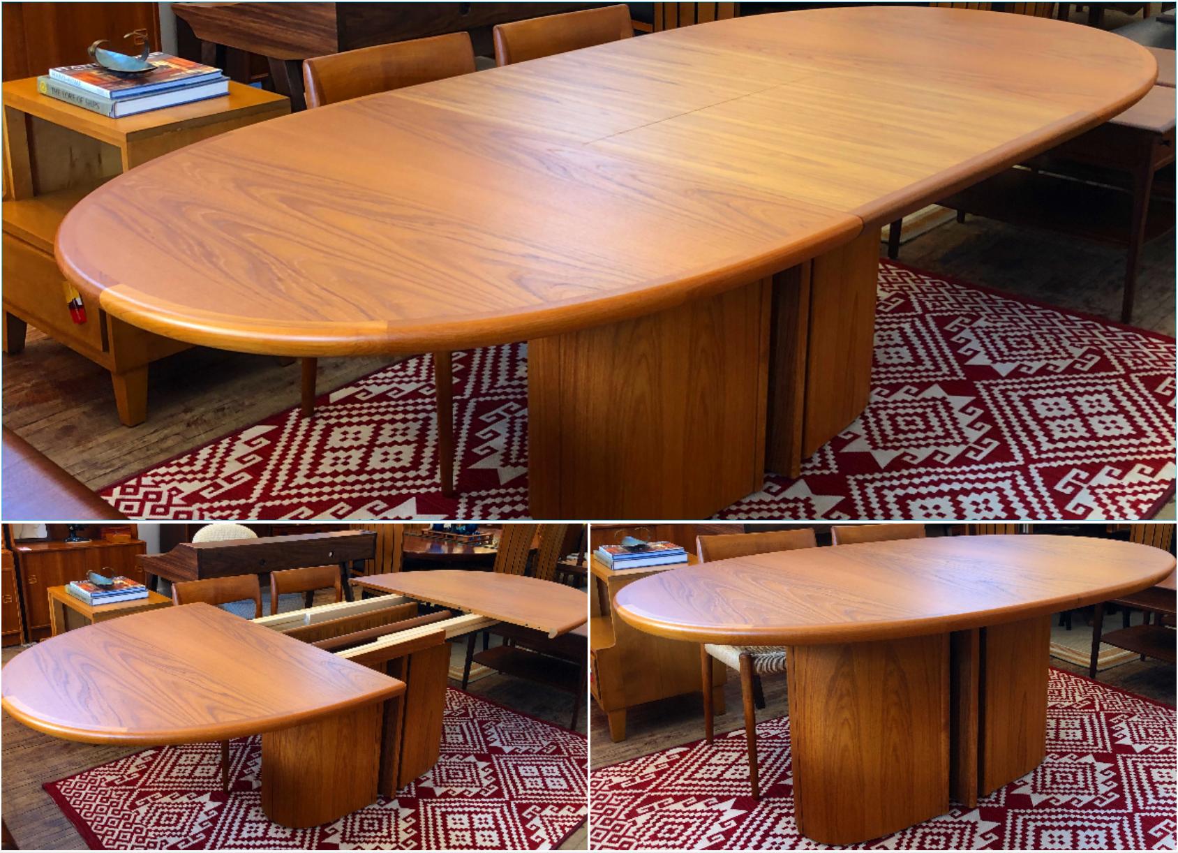 Skovby Mobelfabrik teak dining table - oval