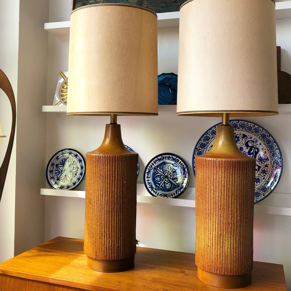 David Cressey architectural pottery lamps