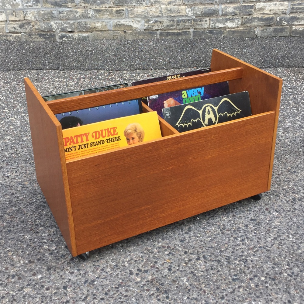 Bruksbo (Norway) teak LP - record cart - caddy