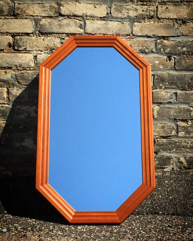 Teak-framed octoganal mirror - Nordisk Andels-Eksport