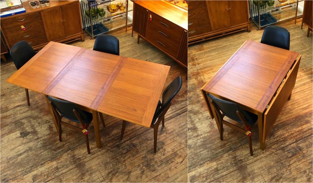 Ansager Mobler teak drop leaf dining table