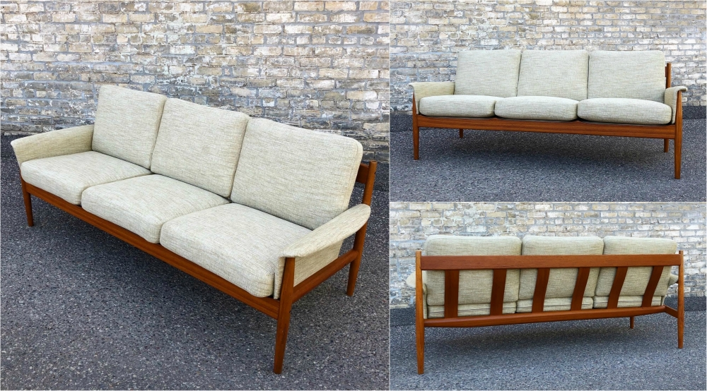 Grete Jalk for France & Son teak frame sofa