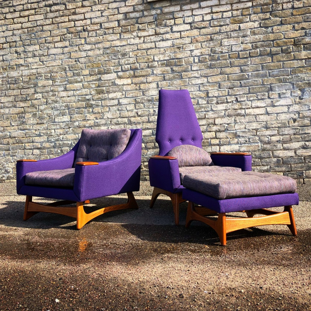 Kroehler American Leisure lounge set - restored and reupholstered