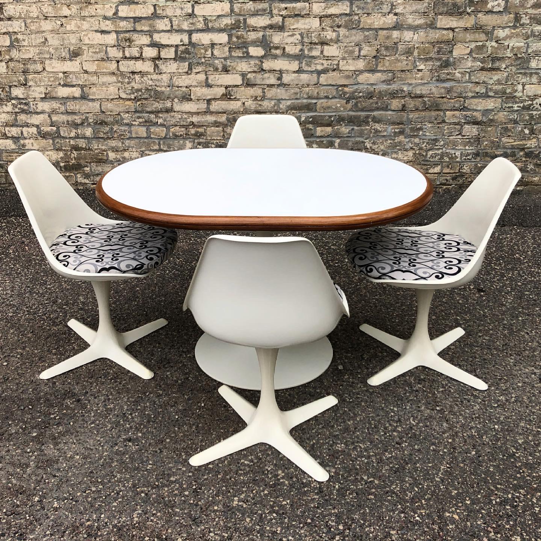 Burke white dining - dinette set