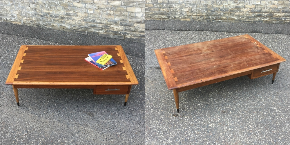 Lane Acclaim Plateau coffee table rescue and restoration.