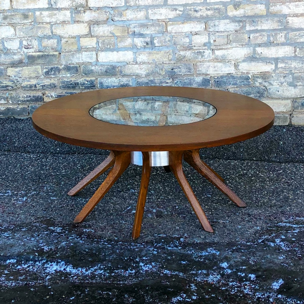 Broyhill Brasilia cathedral coffee table | fully restored